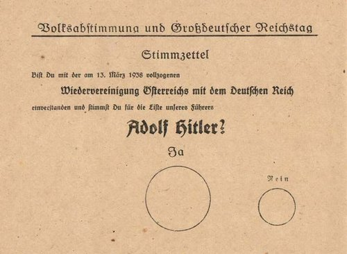 1938 German Ballot